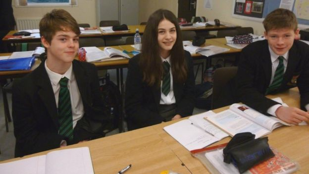 Sullivan Upper School students Patrick, Lucy and Thomas say it was a privilege to have Rory answer their questions