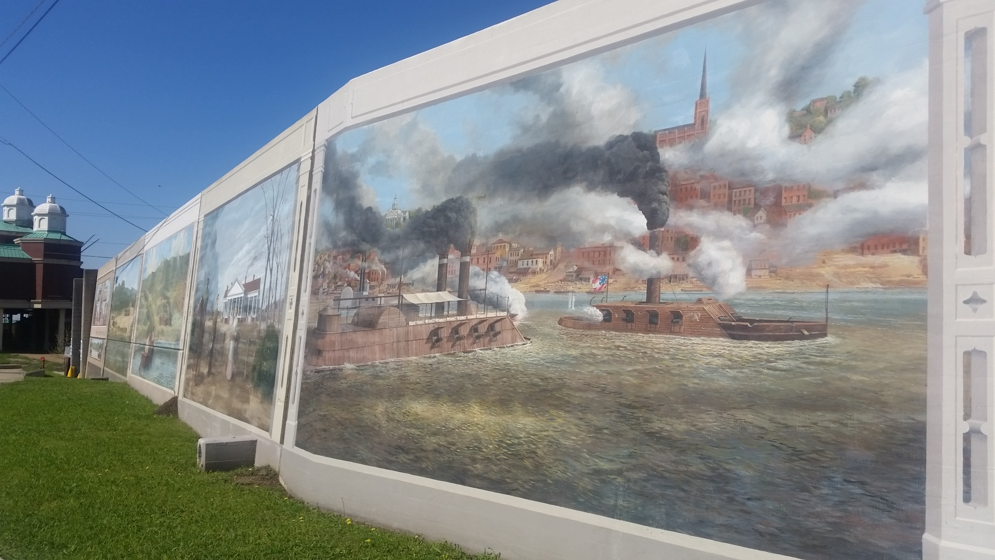 vicksburg s colourful mississippi riverfront murals golf by dafford brought a wealth of experience having completed similar murals in portsmith ohio cincinnati ohio maysville ky and paducah ky
