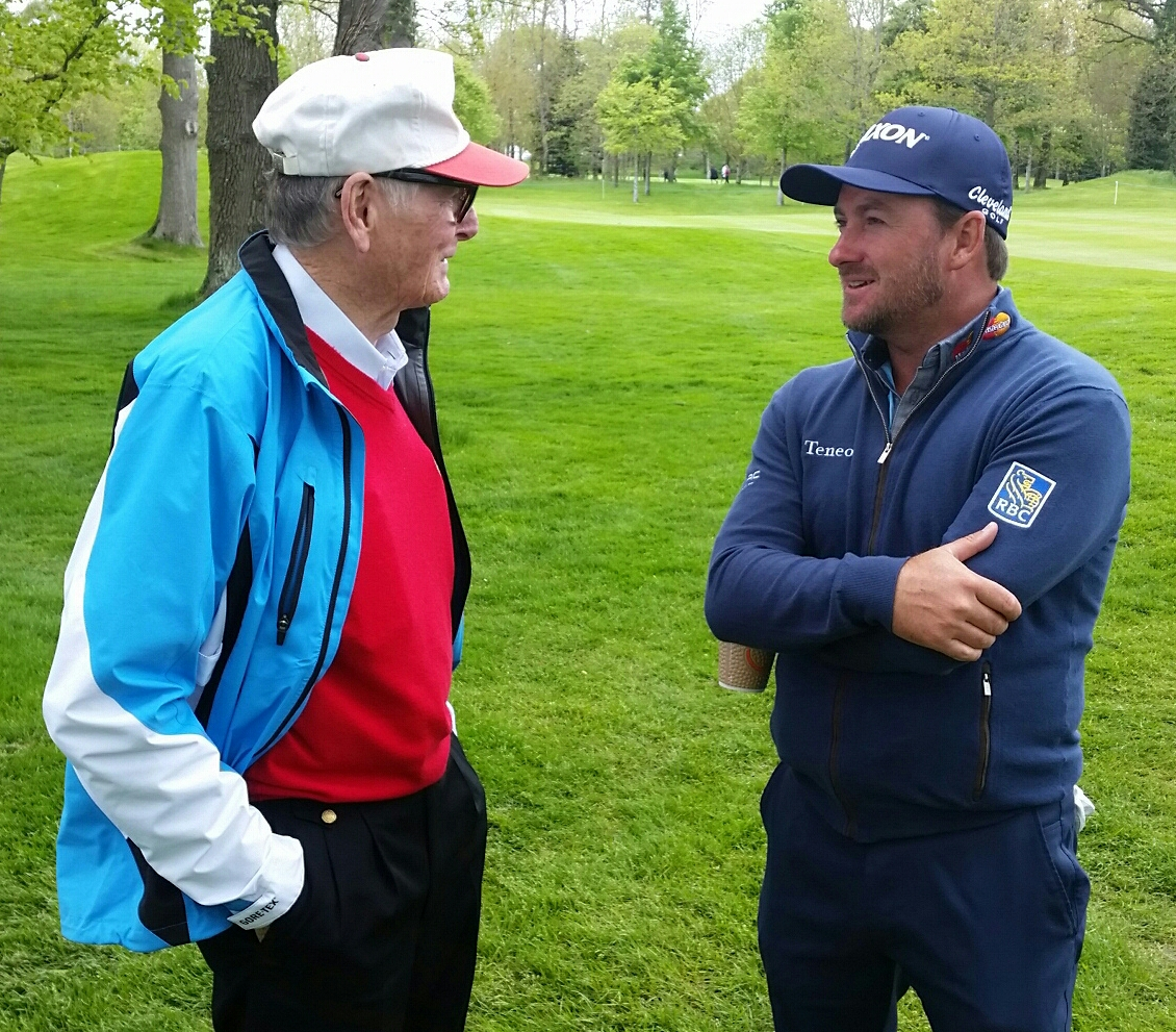 G Mac met my K Club owner Dr. Michael Smurfit who afforded McDowell 'Honorary' Membership of the club. (Photo - www.golfbytourmiss.com)