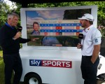 G Mac talks with SKY's Tim Barter post his round of 69.
