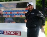 Shane Lowry chats with SKY Sports and clearly delighted in posting a 69.  (Photo - www.golfbytourmiss.com)