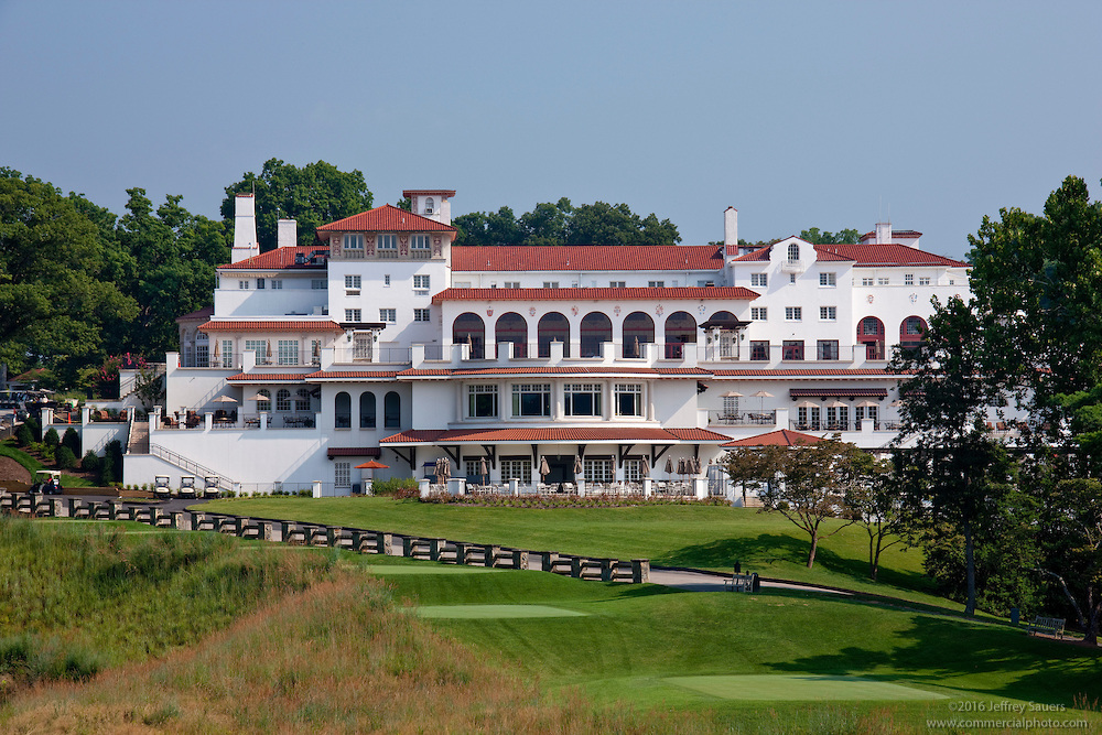 The impressive Congressional Country Club clubhouse.