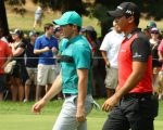 SPRINGFIELD, NJ - JULY 29: Rory McIlroy of Northern Ireland and Jason Day of Australia walk on the fifth hole during the second round of the 98th PGA Championship held at the Baltusrol Golf Club on July 29, 2016 in Springfield, New Jersey. (Photo by Scott Halleran/The PGA of America)