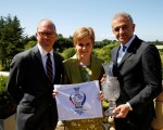 Guy Kinnings, Global Head of IMG Golf , First Minister Nicola Sturgeon & Ivan Khodabakhsh, Chief Executive of the Ladies European Tour,.