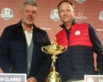 The two rival captains - Darren Clarke and Davis Love 111 - at the start of this week's 41st Ryder Cup.  (Photo - www.golfbytourmiss.com)