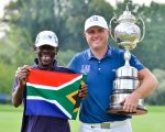Graeme Storm and his 2017 BMW S A winning caddy.  (Photo - Sunshine Tour)