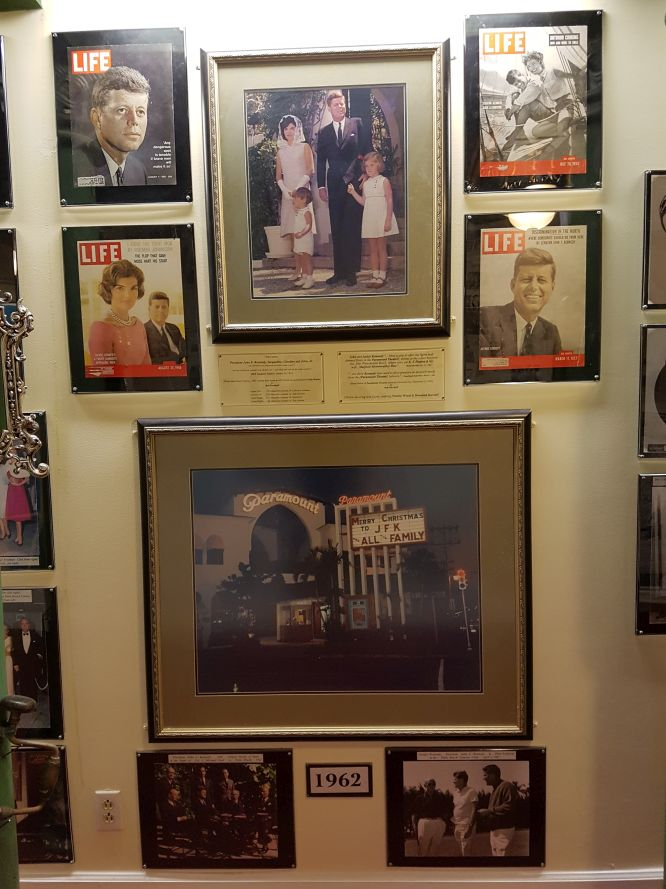 A tribute to President Kennedy and his wife, Jacquelin who were visitors to the Paramount
