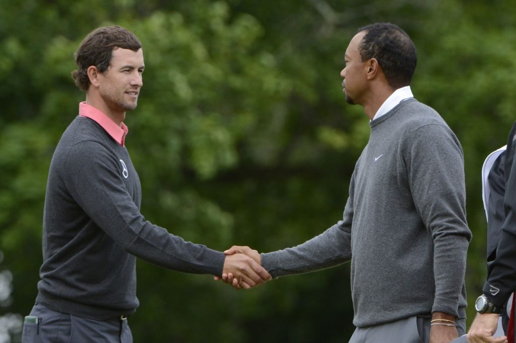 Adam Scott and Tiger Woods.