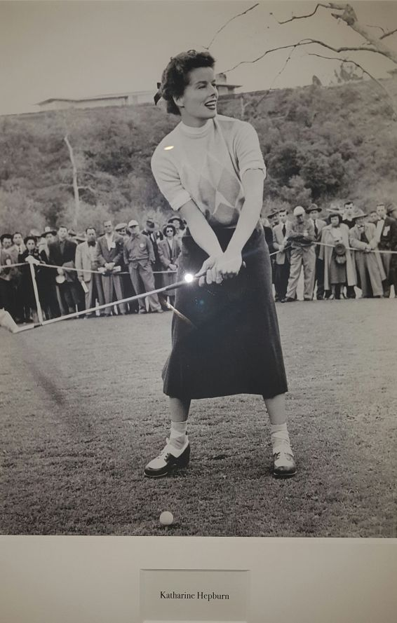 Padraig Harrington admiring Audrey Hepburn's grip and takeaway.