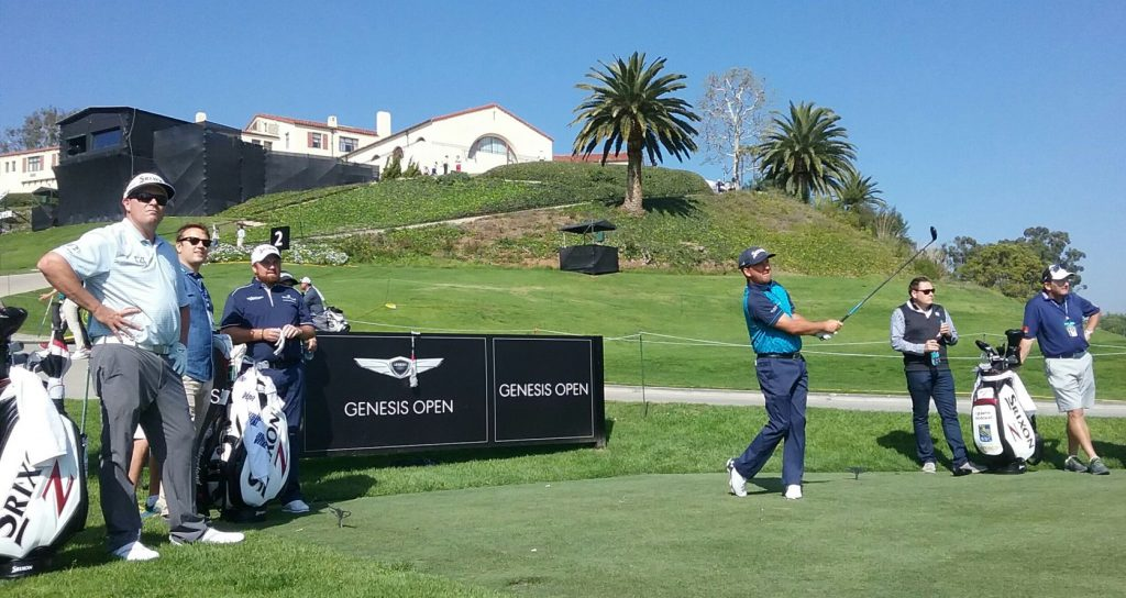 Graeme McDowell tees off in his final practice round ahead of this week's Genesis Open. (Photo - www.golfbytourmiss.com)