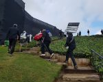 Padraig Harrington climbs his way to the clubhouse after a 72 second round in the Genesis Open.