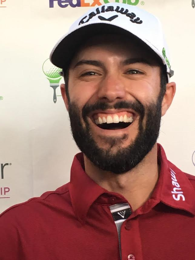 Adam Mr 59 Hadwin All Smiles Four In Front Of Valspar
