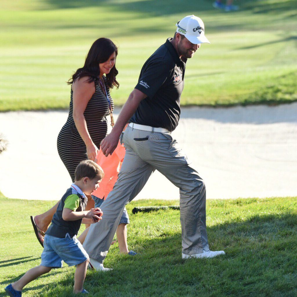 Marc Leishman and his family.