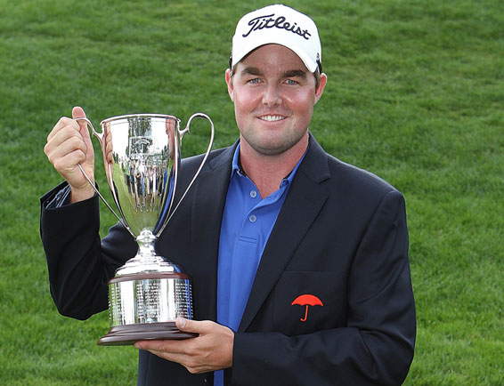 Long time between victory drinks Marc Leishman wins 2012 Travellers Championship.