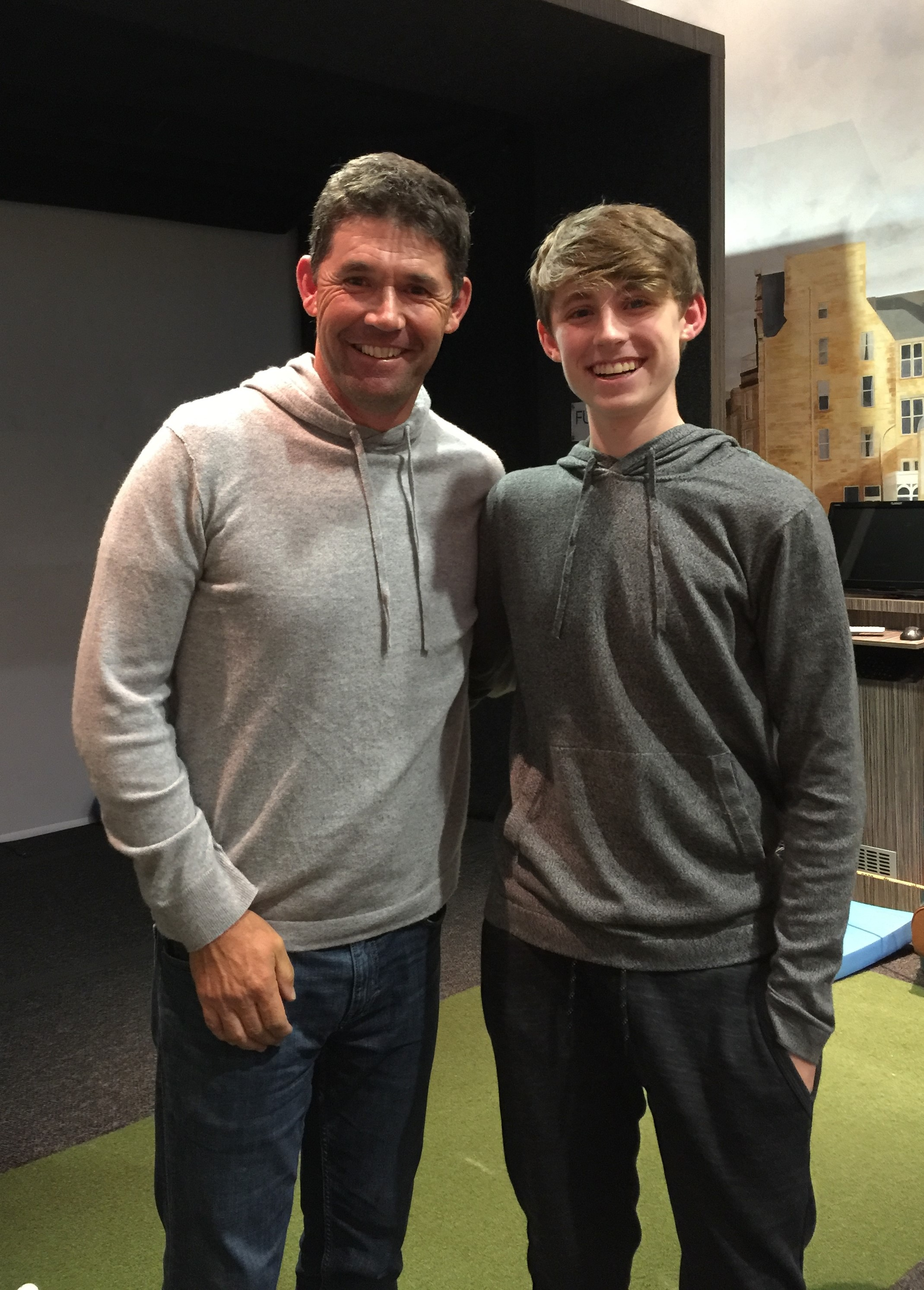 Padraig Harrington and his now 14-year old son Paddy.